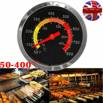 £5.29 • Buy 50-400℃ Barbecue BBQ Temperature Gauge Smoker Grill Stainless Steel Thermometer