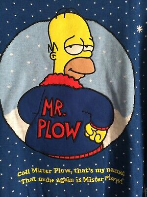 £29.99 • Buy BNWT Official The Simpsons Homer Mr Plow Mens Christmas Xmas Knitted Jumper