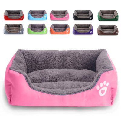 UK Pet Dog Cat Bed Mat Puppy Cushion Soft Warm House Kennel Mat Blanket Washable • 16.68£