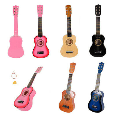 21  Childrens Kids Wooden Acoustic Guitar Musical Instrument Child Toy Xmas Gift • 21.01£