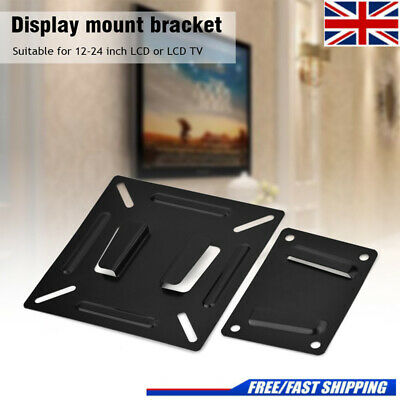 UK Household Monitor TV Wall Bracket Mount For 12-24 Inch LCD LED TV PC Screen • 6.39£