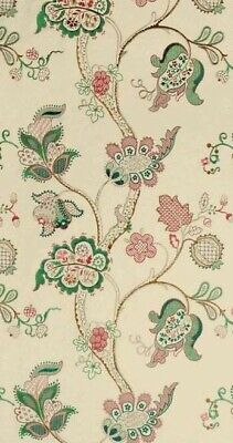 £39.99 • Buy SANDERSON CURTAIN FABRIC DESIGN  Roslyn Embroidery 1.1 METRES EMERALD & ROSE