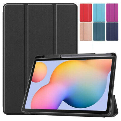 AU20.25 • Buy Leather Case Cover With Pen Holder For Samsung Galaxy Tab S6 Lite 10.4 P610 P615