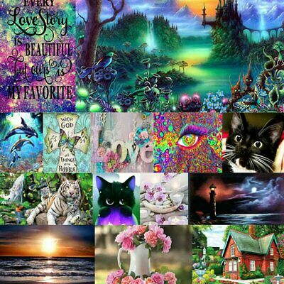 AU11.09 • Buy 5D DIY Animals Full Drill Diamond Painting Kits Home Art Decors Christmas Gifts~