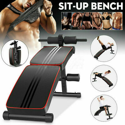 Adjustable Sit Up Bench Folding AB Abdominal Crunch Exercise Board Heavy Duty • 51.59£