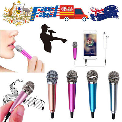 AU9.99 • Buy Mini Microphone Portable Vocal/Instrument Mic For Mobile Phone Laptop Notebook