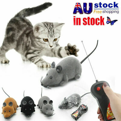 AU11.48 • Buy Pet Cat Puppy Toy Wireless Remote Control Electronic Rat Mouse Mice Toys