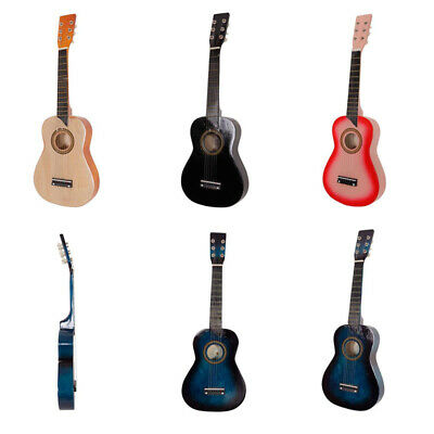 25  Inch Kids Wooden Acoustic Guitar Children's Toy Gift With Pick 6 Strings UK • 22.49£