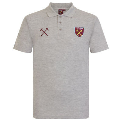 West Ham United FC Official Football Gift Mens Crest Polo Shirt • 14.99£