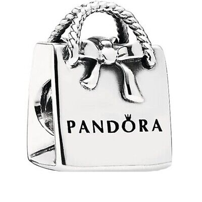 New Genuine Pandora Shopping Bag Purse Charm 791184 Sterling Silver S925 ALE • 14.99£