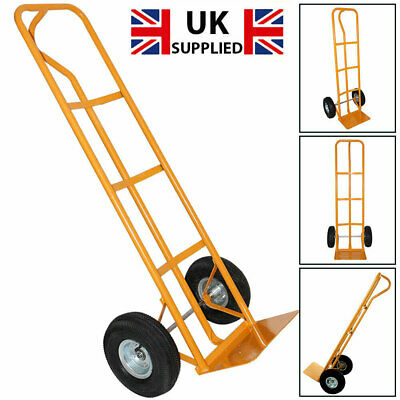 600lb Heavy Duty Sack Truck Industrial Hand Trolley With Pneumatic Tyre Wheel • 27.95£