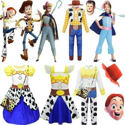 £8.79 • Buy Baby Toys Story 4 Jessie Woody Bo Peep Cosplay Costume Party Fancy Dress Outfits