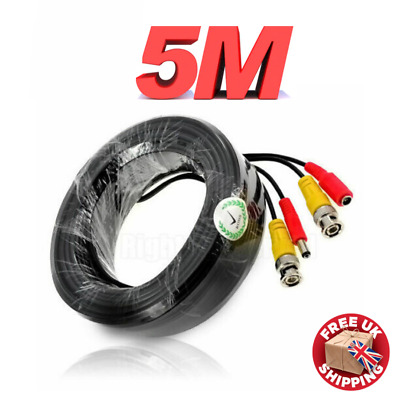 £3.75 • Buy 5M HD BNC DC Power Lead CCTV Security Camera DVR Data Power Extension Cable Wire