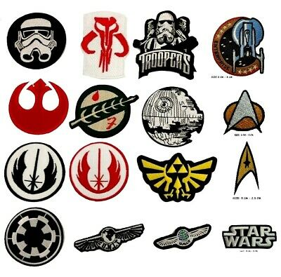 £1.99 • Buy Star War Trooper Jedi Zelda Imperial Force Embroidered Iron Sew On Patch Jacket