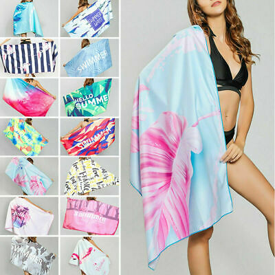 AU20.99 • Buy Ex Large Microfibre Sand-free Beach Towel Quick Dry Travel Bath Towel 80x160cm