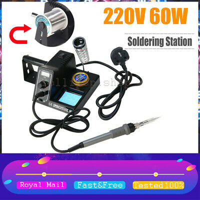 £27.86 • Buy 60W Digital Soldering Iron Station Rework Kit Variable Stand Temperature LED