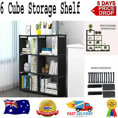AU37.99 • Buy Adjustable Cube Storage Cabinet Shelves Rack Bookcase Organiser Display Box Unit