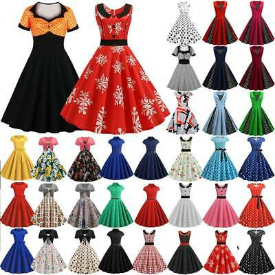 AU21.75 • Buy Womens Vintage 50s 60s Swing Dress Party Evening Rockabilly Skater Dresses AU