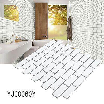 Self-Adhesive Kitchen Wall Tiles Bathroom Mosaic Brick Sticker Peel & Stick UK • 8.25£