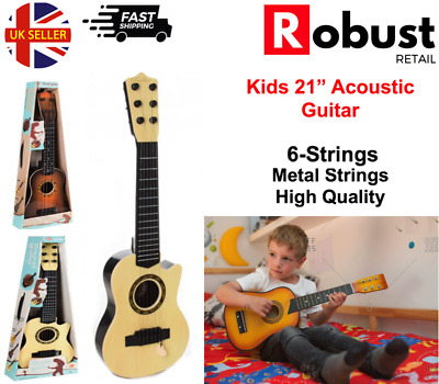 21  Acoustic Guitar 6 Strings Wooden Kids Children Music Instrument XMAS Gift • 11.79£