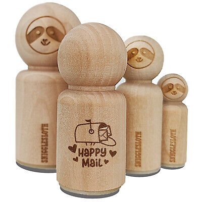 $7.99 • Buy Happy Mail Envelope Mailbox With Heart Rubber Stamp Stamping Crafting Planners
