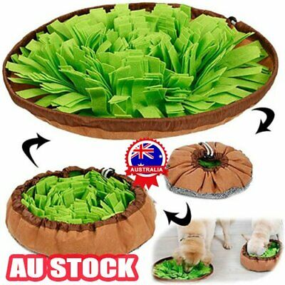 AU24.51 • Buy Dog/Puppy/Pet Toy Snuffle Mat Puzzle Smell Sniffing Nose Training Bowl Washable~