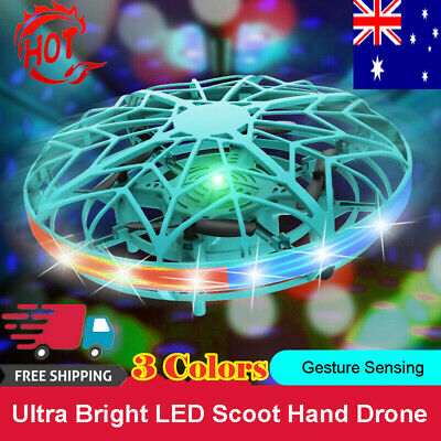 AU21.47 • Buy Hand Operated Mini Drones For 6 7 8 9 10 Years Old Kids Hands Free Flying UFO IW