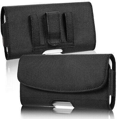 AU17.99 • Buy Cell Phone Holster Belt Clip Loop Pouch Nylon Wallet Case Cover W/Card Holder AU