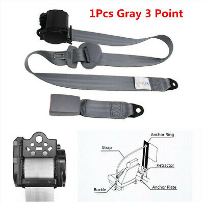 $37.70 • Buy Automatic Retractable 3 Point Safety Seat Belt Lap Buckle Kits Fit For Car Truck