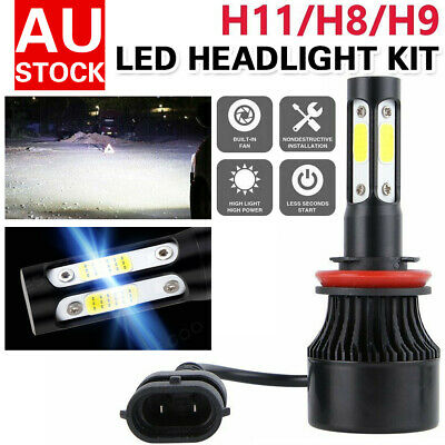 AU23.99 • Buy H11 LED Headlight Light Bulbs Replace HID Halogen 200W 30000LM 6000K White Globe