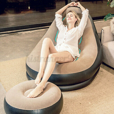 £24.65 • Buy Single Inflatable Chair Sofa Blow Up Seat Gaming Pod Camping Air Seat Couch UK