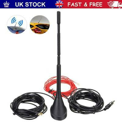 £19.49 • Buy Car Universal Roof Mount Active Amplified DAB + FM Radio Aerial Antenna Mast New