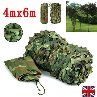 Net Cover Camouflage Netting Camo UK Hunting Shooting Camping Army Hide Colors • 12.99£