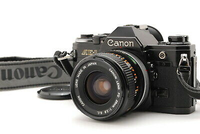 (Exce+++++) Canon AE-1 Black +FD 28mm F2.8 S.C SLR Film Camera From Japan A440 • 192£