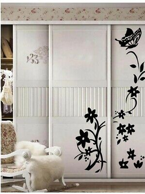 £5.74 • Buy Wall Stickers For Kitchen Decoration Beautiful Flower & Butterfly Wall Stickers