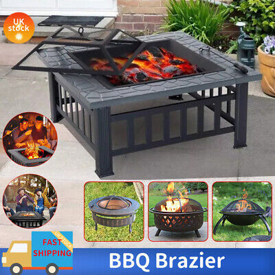 3 In 1 Outdoor Garden Large Firepit Metal Stove Brazier Patio Heater/BBQ/Ice Pit • 108.99£