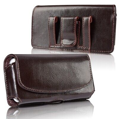 AU20.99 • Buy Cell Phone Holster Belt Clip Pouch Genuine Leather Wallet Case Cover Universal