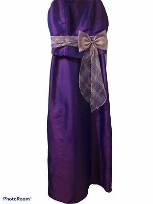 £10.50 • Buy NEW! BRIDESMAID/PROM DRESS LILAH-TEENAGE EGGPLANT SIZE T12 By Romantica