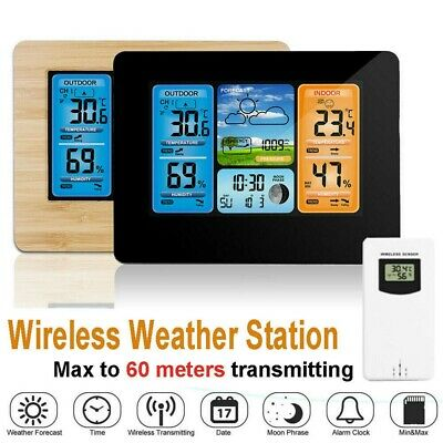 Radio Controlled Weather Station + Indoor/Outdoor Sensor Calendar Thermometer • 21.98£
