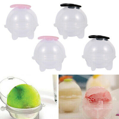 4Pcs Sphere Cube Round Ice Ball Maker - Large Silicone Whiskey Ice Ball Mold • 4.39£