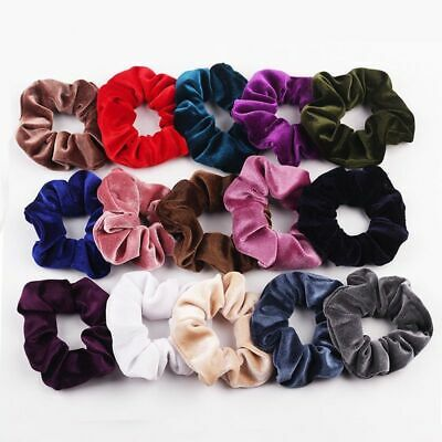 $ CDN5.06 • Buy Hairband For Women Girls Velvet Scrunchie Elastic Hair Accessories Ponytail Hold