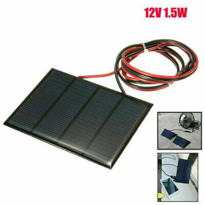 AU14.99 • Buy DIY Small Cell Battery Solar Panel Module Epoxy Charger + Welding Wire 1.5W 12V