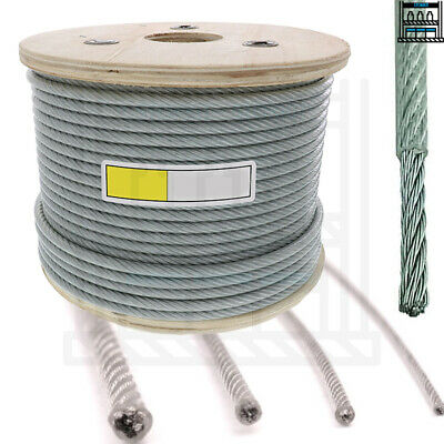 £0.99 • Buy Clear Coated Steel Wire Rope Cable 1mm 2mm 3mm 4mm 5mm 6mm 8mm 10mm 12mm