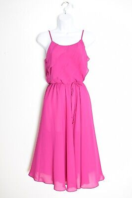 AU48.46 • Buy Vintage 70s Dress Fuchsia Flutter Disco Party Sun Dress Semi Sheer XS Clothing