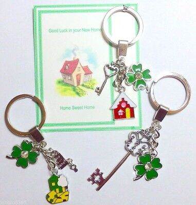 Good Luck In New Home Gift Welcome To Your New Home Key Ring On Gift Card • 5.50£