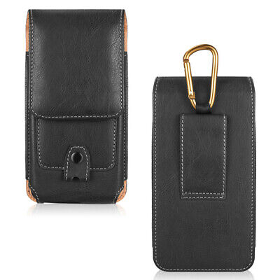 AU17.99 • Buy Cell Phone Holster Belt Clip Loop Pouch Leather Wallet Case Cover W/Card Holder