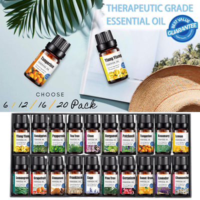 AU22.95 • Buy Aromatherapy Essential Oils 100% Natural Pure Therapeutic Oil Gift 6 -20 Pack
