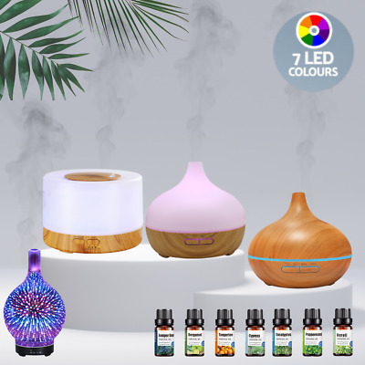 AU29.95 • Buy Aroma Diffuser + Essential Oil Ultrasonic Aromatherapy Air Humidifier Purifier