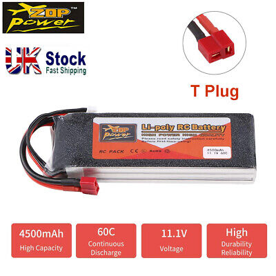 4500mAh ZOP Power 11.1V 3S LiPo Battery 60C Deans T Plug For RC Car Boat Drone • 27.98£