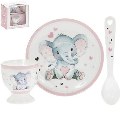 £8.45 • Buy Bird And Ellie Baby Ceramic Egg Cup And Spoon Gift Set